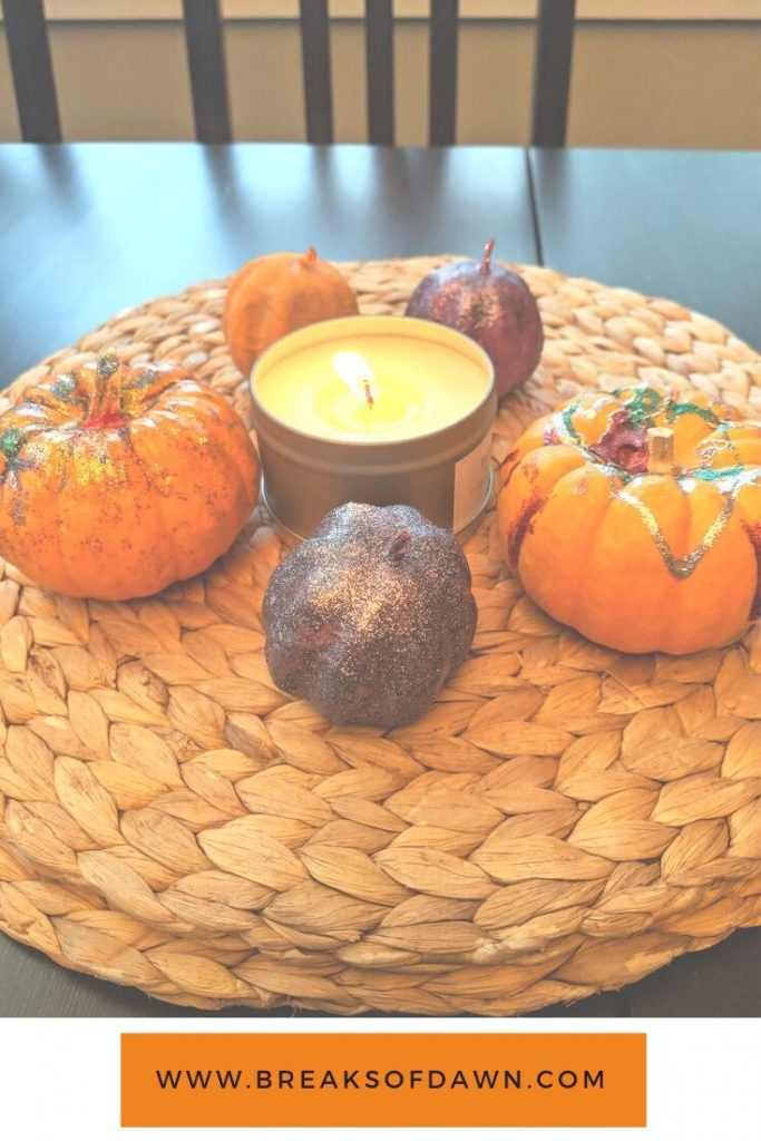 Paint a Pumpkin 2 Ways Finished Product - Easy Fall Crafts for Toddlers