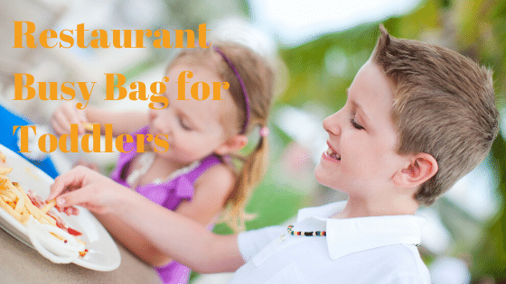 Restaurant Busy Bag for Toddlers